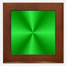 Green Shine Framed Tile