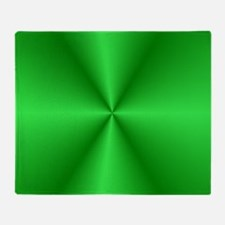 Green Shine Throw Blanket