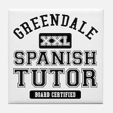 Greendale Spanish Tutor Tile Coaster