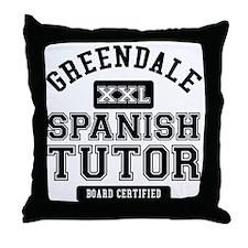 Greendale Spanish Tutor Throw Pillow