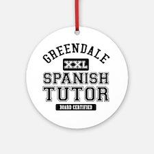 Greendale Spanish Tutor Ornament (Round)