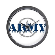 Army - I Support My Son Wall Clock