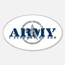 Army - I Support My Son Oval Decal