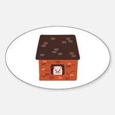 Brick House Pig Decal