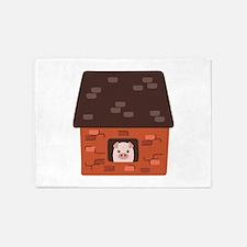 Brick House Pig 5'x7'Area Rug