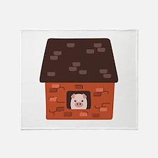 Brick House Pig Throw Blanket