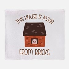 Made From Bricks Throw Blanket
