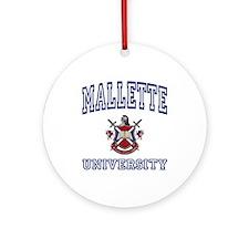MALLETTE University Ornament (Round)