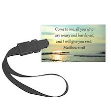 MATTHEW 11:28 Luggage Tag