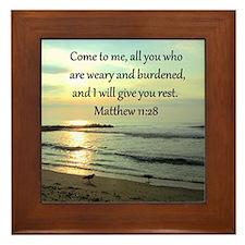MATTHEW 11:28 Framed Tile