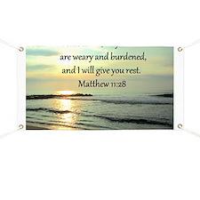 MATTHEW 11:28 Banner