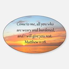 MATTHEW 11:28 Decal