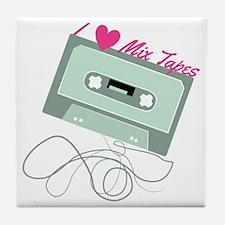 I Love Mix Tapes Tile Coaster