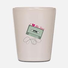 I Love Mix Tapes Shot Glass
