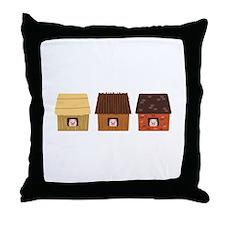 Three Pigs Throw Pillow