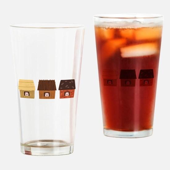Three Pigs Drinking Glass