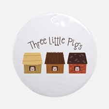 Three Little Pigs Ornament (Round)