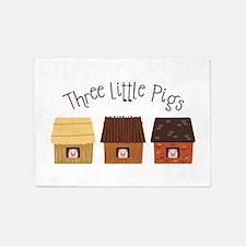Three Little Pigs 5'x7'Area Rug