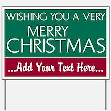Custom Merry Christmas Yard Sign