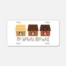 No Wolves Allowed Aluminum License Plate