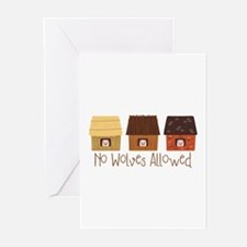 No Wolves Allowed Greeting Cards