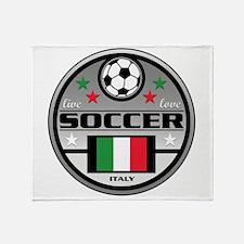 Live Love Soccer Italy Throw Blanket