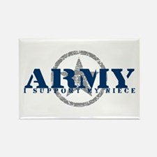 Army - I Support My Niece Rectangle Magnet