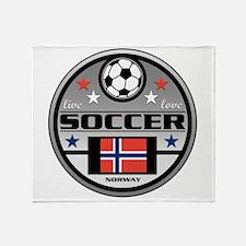 Live Love Soccer Norway Throw Blanket