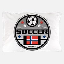 Live Love Soccer Norway Pillow Case