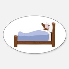 Wolf In Bed Decal