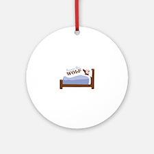 Beware The Wolf Ornament (Round)