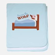 Beware The Wolf baby blanket