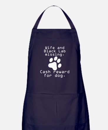 Wife And Black Lab Missing Apron (dark)
