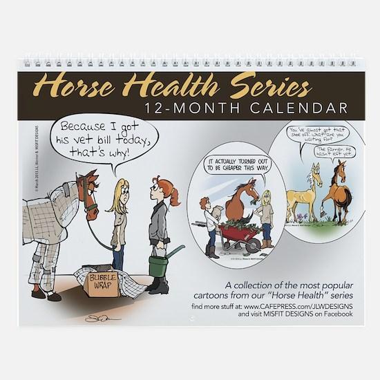 Horse Health Cartoons Wall Calendar