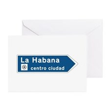 Havana Road Sign, Cuba Greeting Cards (Pk of 10)