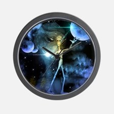 The alien in the universe Wall Clock