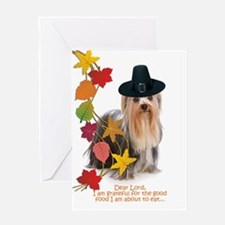 Funny Yorkie Thanksgiving Greeting Cards