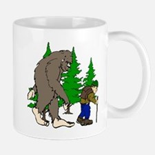 Sasquatch and hiker Mug
