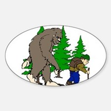 Sasquatch and hiker Decal