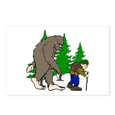 Sasquatch and hiker Postcards (Package of 8)