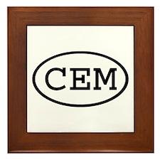 CEM Oval Framed Tile