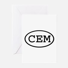 CEM Oval Greeting Cards (Pk of 10)