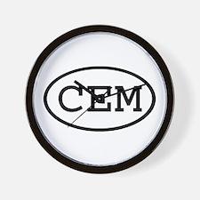 CEM Oval Wall Clock