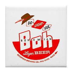 Bohemian Beer-1954 Tile Coaster