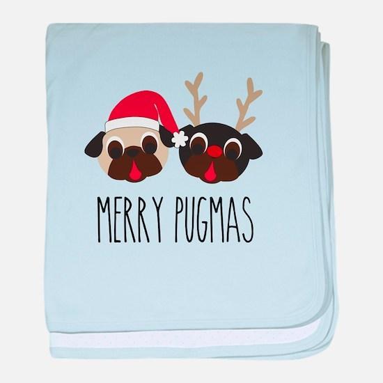 Merry Pugmas Christmas Pug Santa & Reindeer baby b