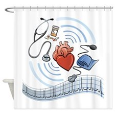 Heart Health Shower Curtain