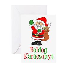 Boldog Karcsonyt Santa Card Greeting Cards