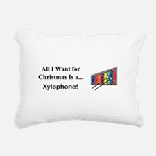 Christmas Xylophone Rectangular Canvas Pillow