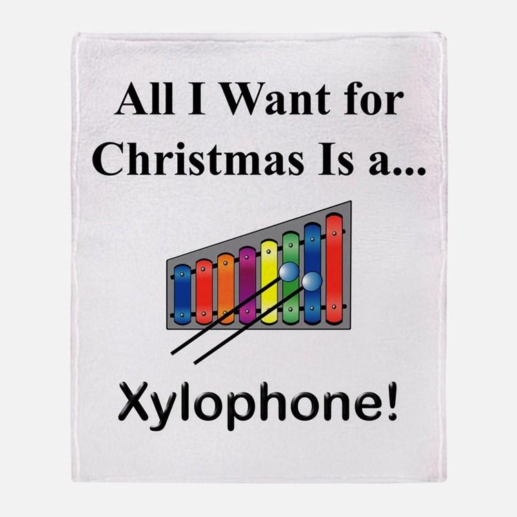 Christmas Xylophone Throw Blanket