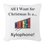 Christmas Xylophone Woven Throw Pillow